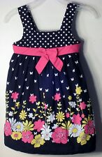 BONNIE BABY Size 24 Months Black Floral Sleeveless Dress