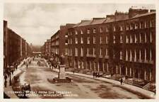 LIMERICK, IRELAND, ~ O'CONNELL STREET & MONUMENT, REAL PHOTO PC ~ 1930's