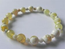 Yellow agate and opal stretch gemstone bracelet.