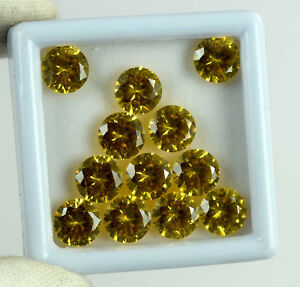 Best Deal 30 Ct/12 Pcs Natural Round Yellow Sapphire Gemstone Lot AGI Certified