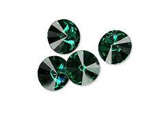 6 Emerald Swarovski Crystal Foiled 1122 Rivoli Stone 12mm