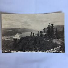 RPPC Real Photo Unposted Postcard Crown Point Columbia River Highway Oregon