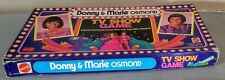 """Vintage 1977 """"DONNY & MARIE OSMOND"""" TV Show Board Game by Mattel - VG Condition"""