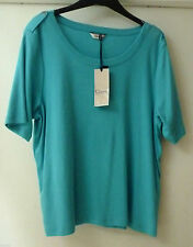 Marks and Spencer Women's No Pattern Cotton Short Sleeve Sleeve Tops & Shirts