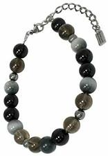 Titanium natural stone bracelet Smoky Quartz Onyx Eagle Eye Power Stone NK-MIX03