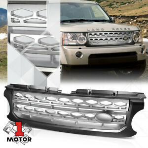 For 2010-2016 Land Rover LR4 {AUTOBIOGRAPHY STYLE} Grey/Silver ABS Grille Grill