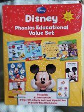 Disney Phonics Educational Value Set: Activity & Learning Books Flash Cards Nib