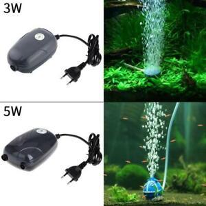 Ultra-Silent 3W/5W Aquarium Air Pump Fish Tank Oxygen Pumps AquariumF Q2L1 Y1S1