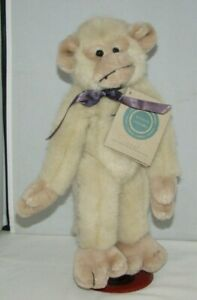 """The Boyds Collection Tan Monkey 11"""" Jointed Arms and Legs Plush with Stand MINT"""