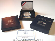 2008 Bald Eagle Proof Silver Dollar Coin Certificate of Authenticity