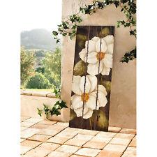 Wooden Frame-less Magnolia Blossom Flower Wall Art