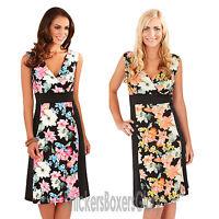 Ladies Sleeveless Floral Summer Midi Dress Size 8, 10, 12, 14, 16, 18, 20, 22