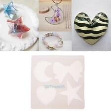 Silicone Pendant Mold Making Jewelry Star Moon Heart Resin DIY Casting Mould Kit