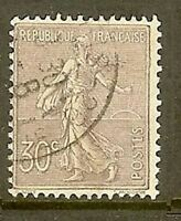 """FRANCE TIMBRE STAMP N° 133 """" SEMEUSE LIGNEE DE ROTY 30 C LILAS """" OBLITERE TB"""