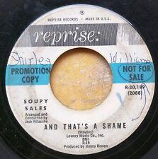 POPCORN R&B NOVELTY DJ 45: SOUPY SALES And That's a Shame JACK NITZSCHE