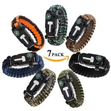 Epartswide Multifunctional Outdoor Survival Paracord Bracelet with Flint Fire St