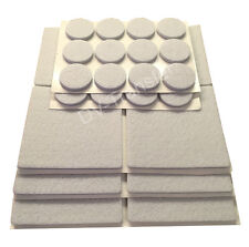 Grey 12 Square and 24 Round Self Adhesive Wooden Flooring Protection Felt pads