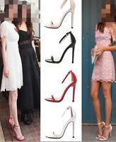 Women Ladys Peep Toe Ankle Strap High Heel Stiletto Fashion Sandal Shoes Plus SZ