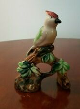Vintage Ceramic Cardinal Bird Figurine, Hand Decorated