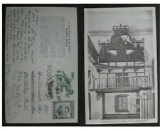 "1958 Philippines Postcard ""Bamboo Organ"" ties 2 stamps to USA"