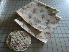 Longaberger Sweetheart Floral Custom Made Napkins and Coasters - Set of 2