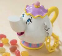 NEW Disney Land Tokyo Beauty and the Beast Teapot Snack Case 2020