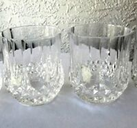 Set of 2 Cristal D'Arques Longchamp Crystal Double Old Fashioned Rocks Glasses