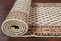All-Over IVORY Botemir Oriental Rug Hand-Knotted Stair Runner Carpet WOOL