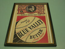 1933 ALL STAR GAME FRAMED PROGRAM COVER COLOR PRINT