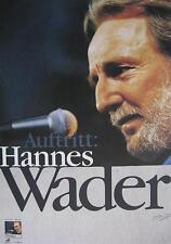 "HANNES WADER TOUR POSTER / KONZERTPLAKAT ""AUFTRITT TOUR"""
