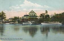 BATH ME – New Meadows Inn from the River - udb (pre 1908)