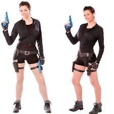 Ladies Treasure Huntress Costume Fancy Dress lara croft TOP