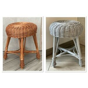 Large Wicker Stool / Children's Wicker Stool / Side Coffee Table / Plant Stand
