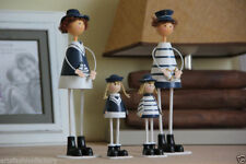 4-Piece Handemade Hand-printed Wooden Sailor Doll Wood human Standing dolls