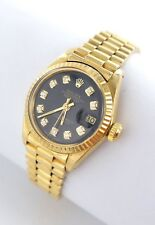 Rolex Datejust Damenuhr 18kt Gold 750er 6917 Brillanten Diamanten