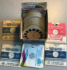 View Master - Lot of 65 Reels - Rin-Tin-Tin Disney Muppets Travel Religious More