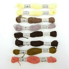 Lot of 8 Skeins Dmc Retors A Broder Cotton Matte Needlepoint Tapestry Thread