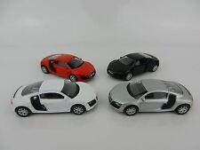 1:64 RMZ *SET OF 4* AUDI R8 V10 Sports Car *DIECAST* NEW!