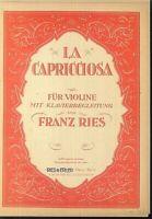 Franz Ries - LA CAPRICCIOSA - Violine und Klavier
