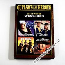 The Cowboys, Fort Apache, Rio Bravo, The Searchers DVD New 2 Disc Set