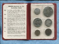 1973 Coin Set UNC Uncirculated in Red Wallet I-848
