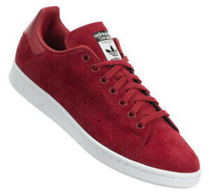Adidas Stan Smith Shoes Trainers Sneakers Trainers Red Women's Suede