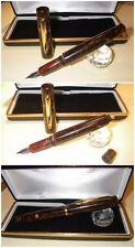 Celluloid / Ebanite fountain pen HandMade Stylo RUSSET BROWN PEARL button-filler