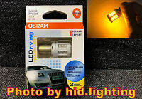 Genuine OSRAM 7457YE amber yellow 12V PY21W LED Driving Turn signal Light BAU15S