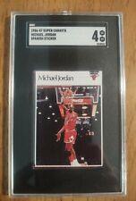 1986 Super Canasta Michael Jordan Spanish Sticker ROOKIE RC SGC 4 VG EX RARE