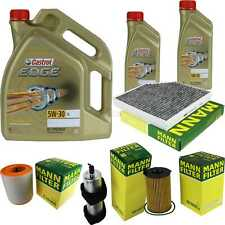 Inspection Kit Filter Castrol 7L Oil 5W30 for Audi A6 Avant 4G5 C7 3.0 Tdi