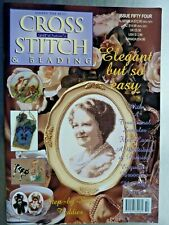 F] X Stitch Booklet-Magazine from Jill Oxton, Flowers &Badgers Calf Mice Pansies