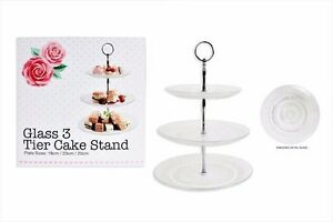3 Tier Glass Cake Stand Afternoon Tea Wedding Plates Party Tableware Display