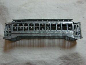 Cast Ho Scale Double Truck Deck Roof City Trolley Car Body by Bowser nr