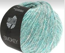 Smokey 50g Lana Grossa Alta Calidad Kettengarn Color 212 Pastellpetrol/Gris